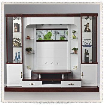 Shx design living room tv set furniture 9905 led tv wall for Wall cupboards designs living room