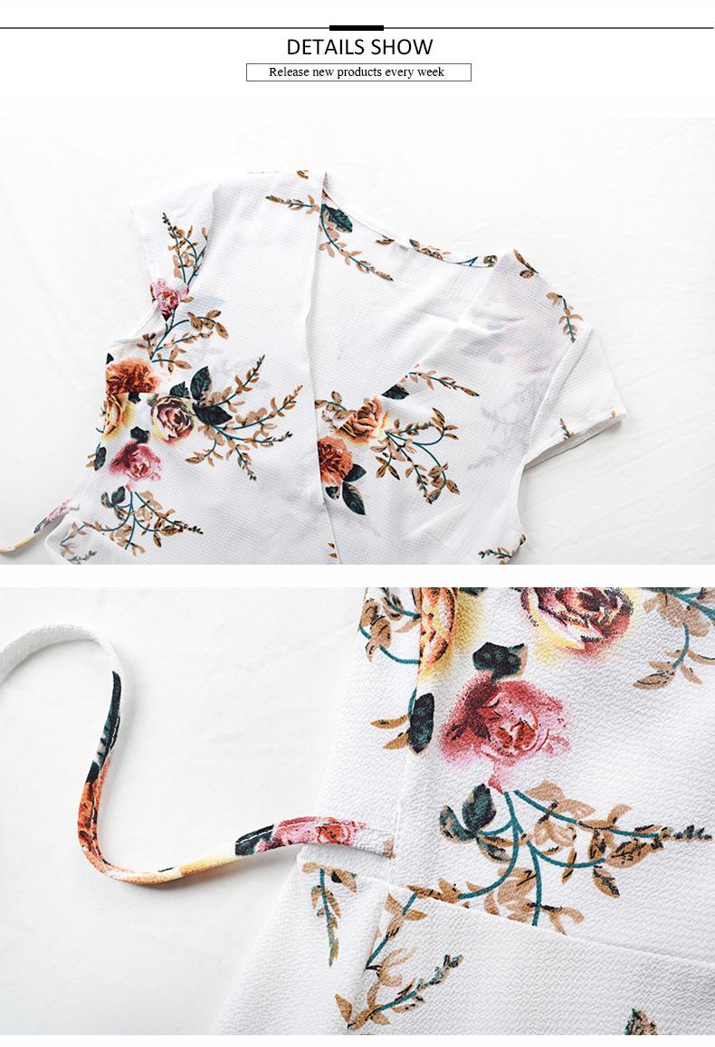 200326 Ready Made Pescoço V Holiday Beach Wear Maxi Vestidos de Senhora