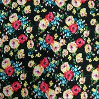 new print technique colorful flower pattern print fabric 100% rayon print fabric
