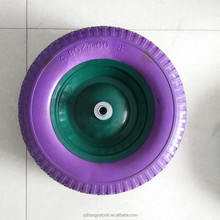 Flat free 4.00-8 PU Foam Wheel