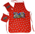promotion red twill cotton apron