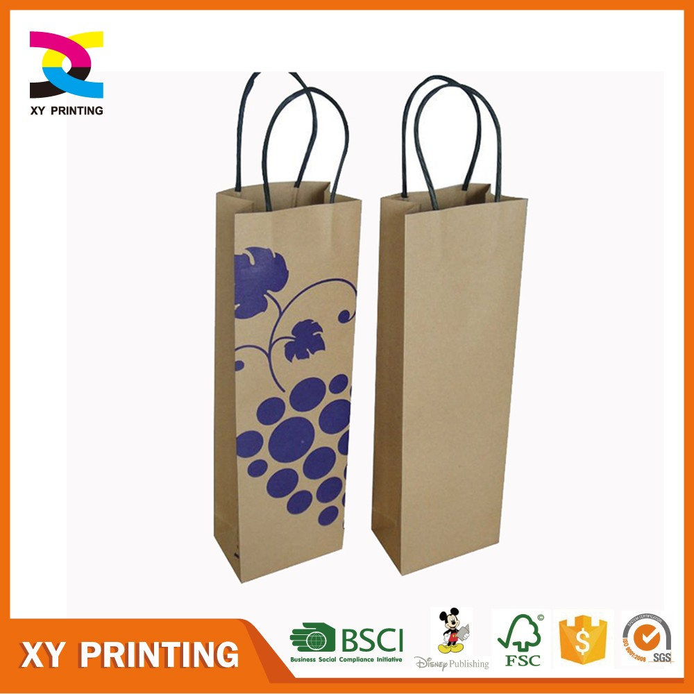 High Quality Wine Paper Bag For Gift