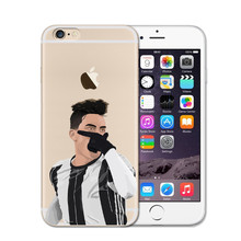 DIY Custom Phone Case Clear Soft Phone Case Cover Coque Sport Football Soccer Star Cristiano Ronaldo Messi Pogba for iPhone