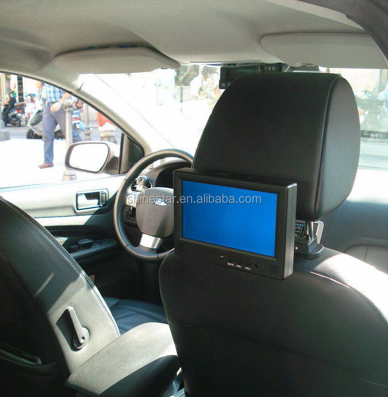 "7"" inch touchscreen taxi digital signage monitor for cab"