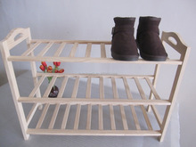 Homemade Solid Pine Wood Shoe Rack Furniture