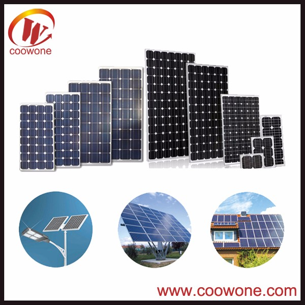 Photovoltaic power generation household system mono or poly 50 watt 100w 250 watt solar panel