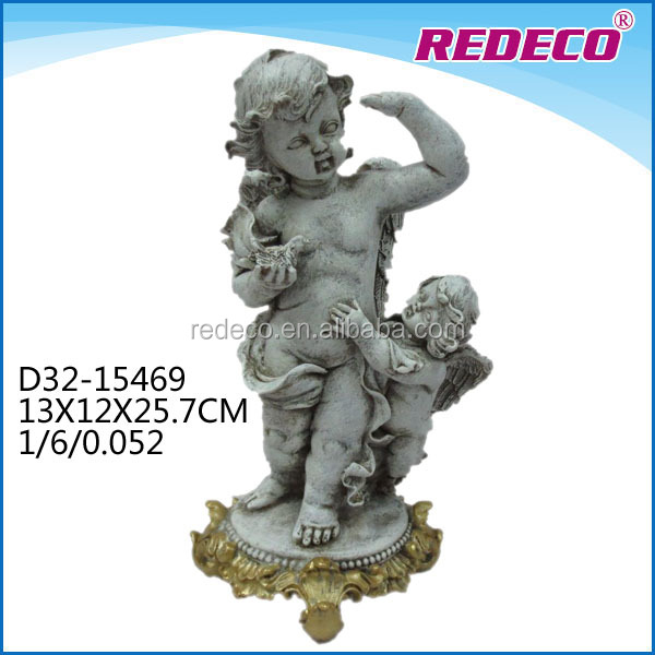 New arrival resin gold indoor decorative angel statues