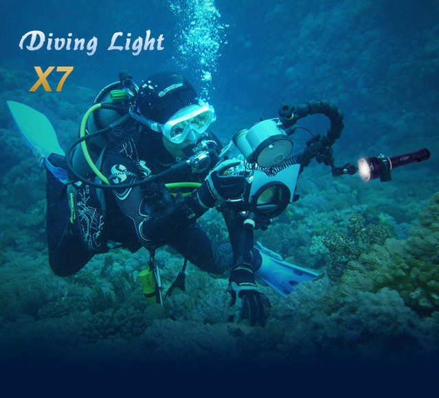 newest design 3*C ree XM-L2 U2 Led 3000 lumens magnetic switch diving flashlight