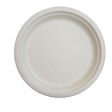 6/7/9/10 inch biodegradable round sugarcane pulp <strong>plate</strong>