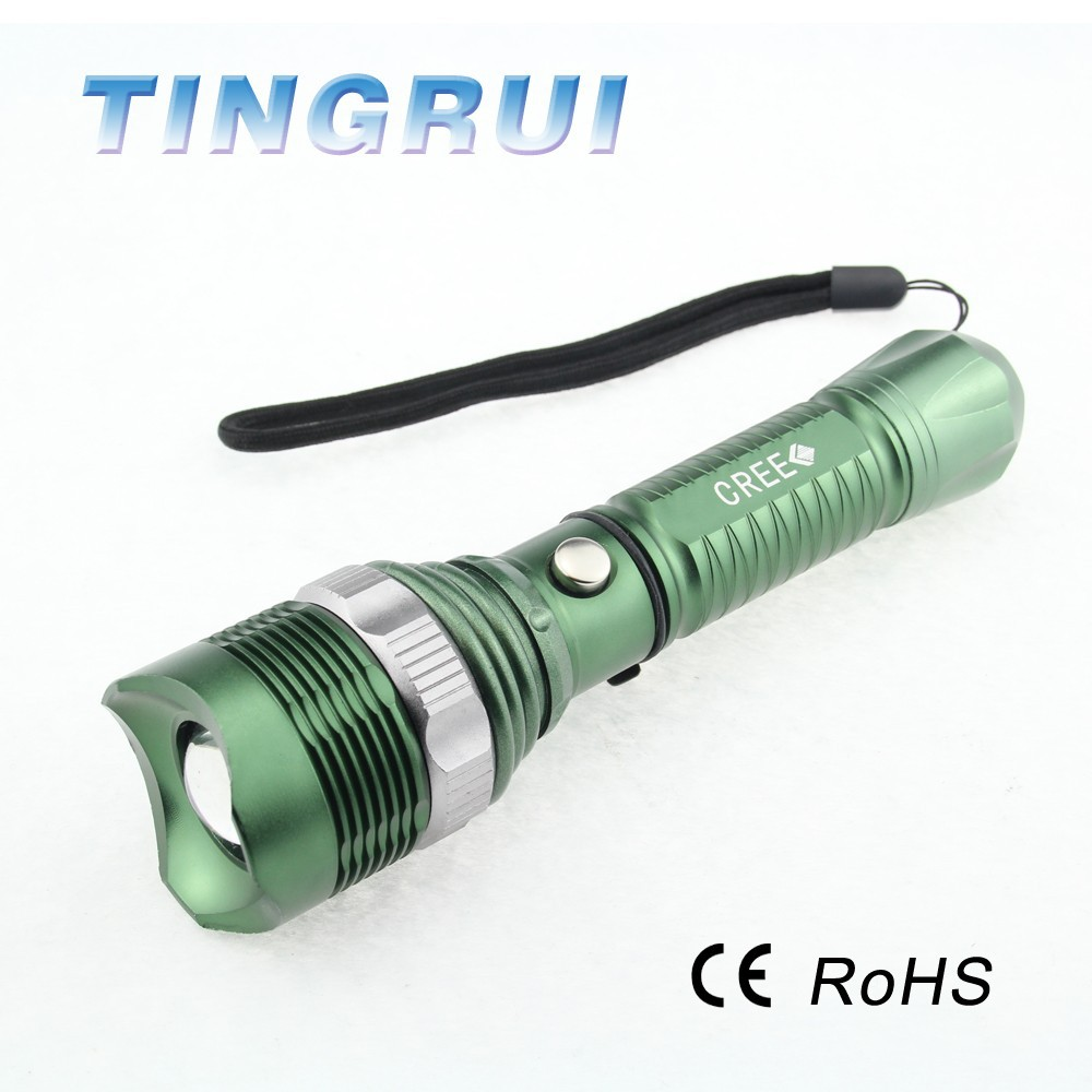 Rechargeable High Power XML T6 Led flashlight red led flashing