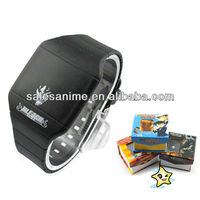 Wholesale Anime Bleach/Cross Fire/Detective Conan/Death Note/Fairy Tail/Vocaloid/Katekyo Hitman Reborn Anime LED Wrist Watch