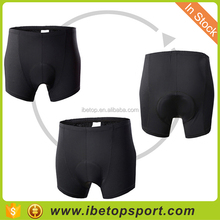 Cool design cycling sportswear for men black bike shorts with paded in stock