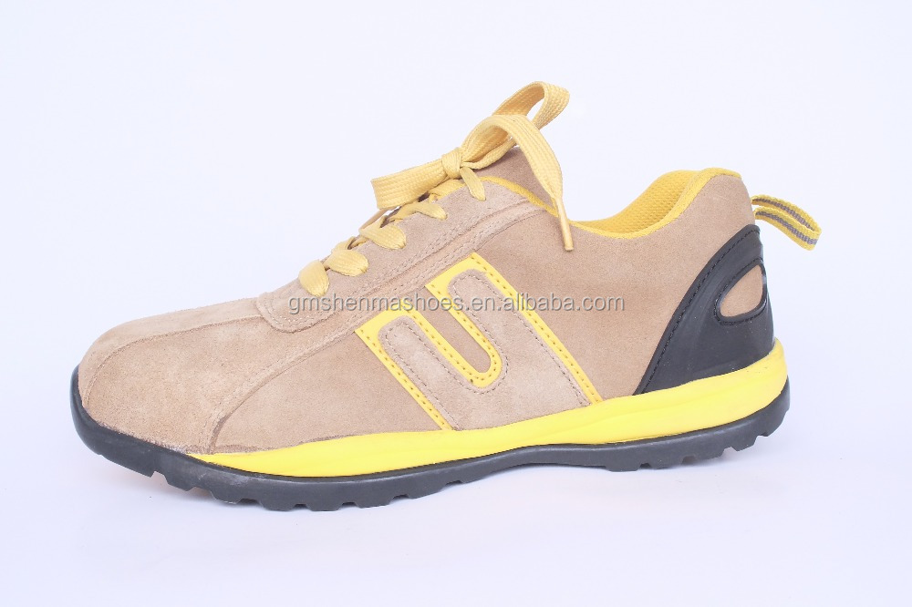 high quality cow suede leather ,rubber +EVA outsole SM112 action sports shoes men