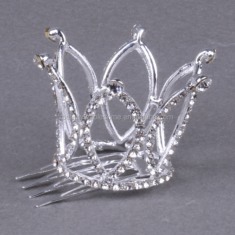 New Crown Clip Jewelry Hair Comb Princess Crown Hairpin