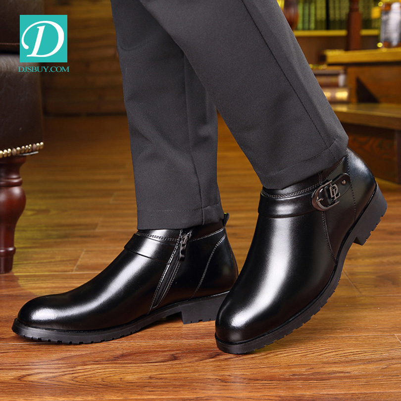 Free Shipping Top Level Stylish Men Shoes Winter Genuine Leather Men <strong>boots</strong>