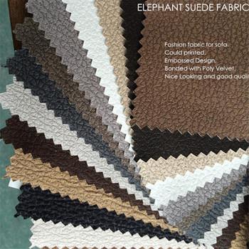 Sofa Material Fabric Elephant Upholstery Fabric Embossing Elephant