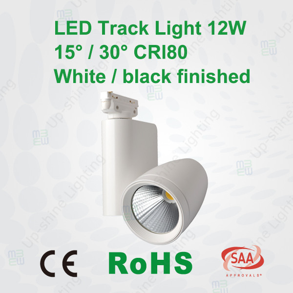 High Quality CE TUV 12W COB LED Track Spotlights for showrooms