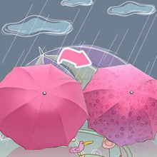 beautifu magic Water bloom flower rain and sun umbrella