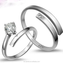 925 Sterling Silver Forever Lover Couples Rings Adjustbale Size