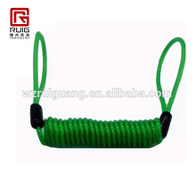Blue Safety Lanyard Spring Coil Wire Rope