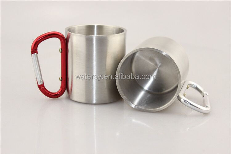 best selling wholesale 220ml stainless steel travel cup with keychian