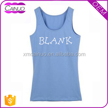 Printing Cotton Tank Top Clothing Ladies Tops Sale