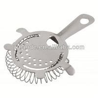stainless steel wine bar cocktail strainer