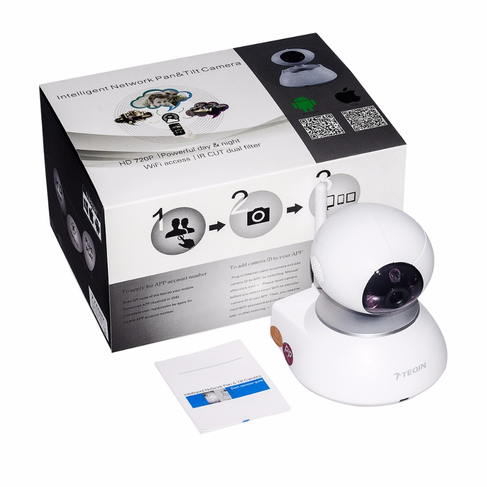 2016 TEQIN High Quality wifi camera with TF card function wifi wireless mode ip baby monitor camera