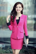 Office ladies business suit for women outfit sets coat and skirt blazers