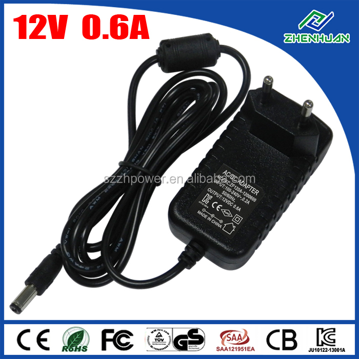 Single Output Wall Adapter 12V 600mA AC DC Adaptor For Router With CE CB