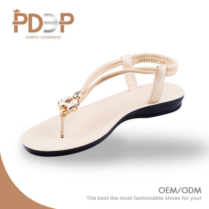 New design fashionable cheap OEM brand name women sandals