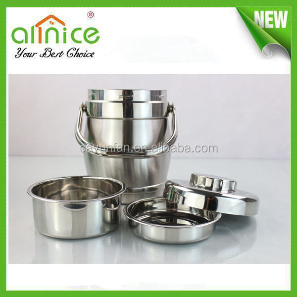 Stainless Steel hot portable insulated food carrier