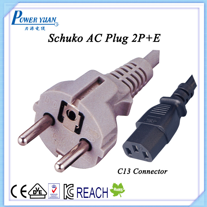 16A 250V Schuko power plug power cord for industry application