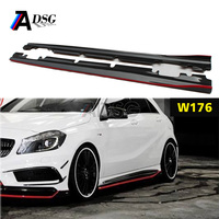 Mercedes W176 A45 AMG R look Carbon Fiber Side Skirt