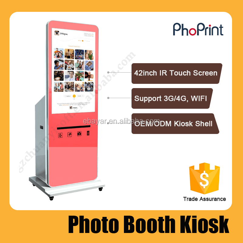 Mobile Phone Charging Free and Photo Coin-operated Vending Kiosk Station