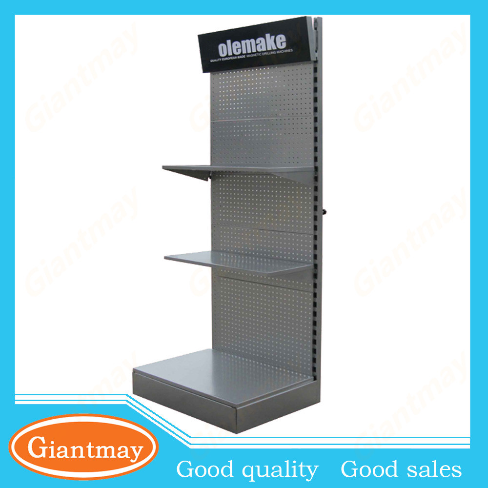 floor standing mobile phone accessories metal pegboard display rack