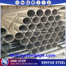 ASTM A53 ERW/HFI welded galvanized steel pipe/tube water pipe construction pipe