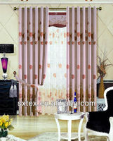 2013 Hot and Fashion Printed Blackout ready made curtain with Black Line