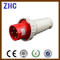16a 32a 63a 125a industrial waterproof power 4 pin plug and socket