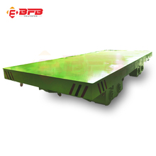 China supplier electric self propelled 50 ton flatbed trailer for handle