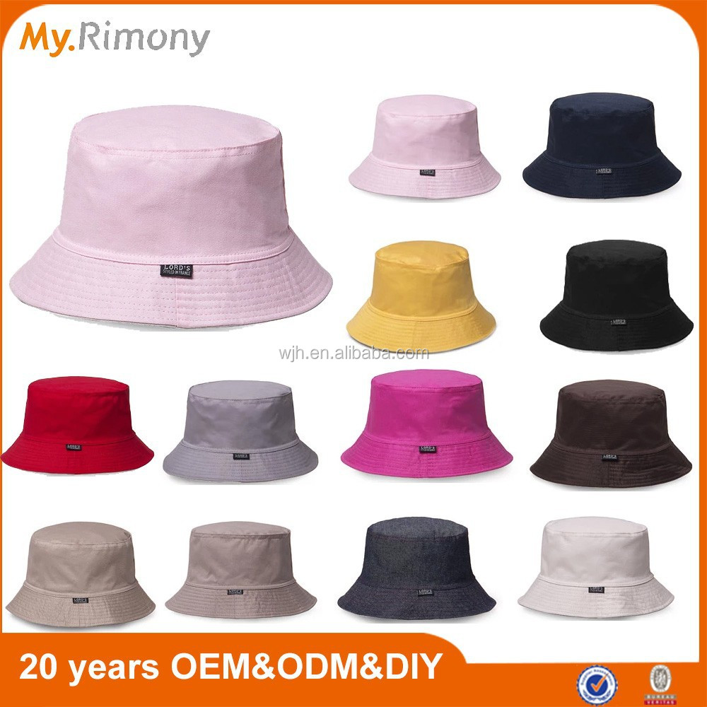 100% cotton good quality bucket hat printed or embroidery your custom logo