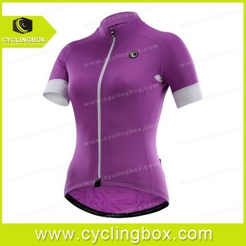 Innovative purple design cycling /bicycle jersey/road bike clothing/sportswear with custom
