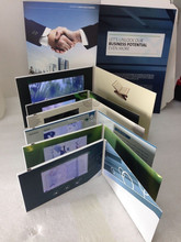"4.3"" lcd video greeting cards, video brochure card, video brochure book"