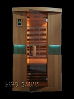 1 person designer luxury prefabricated wooden house with FSC Canadian hemlock wood