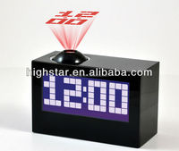 Shenzhen factory Muilt-function Digital LCD Projector Clock with Radio