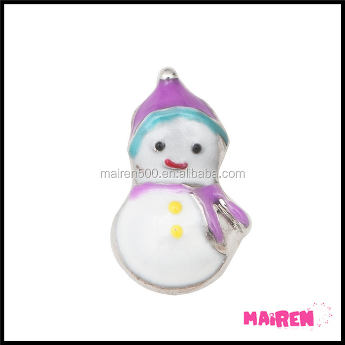 alloy metal enamel Christmas floating charms