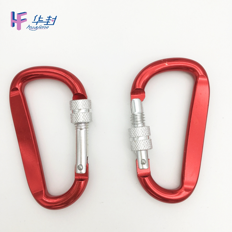 Factory directly  colorful  carabiner with customized logo