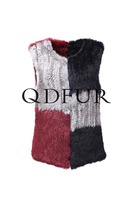 QD82053 2016 Women Clothing New Product Rabbit Fur Vests from China