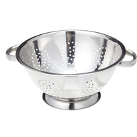 Popular stainless steel rice/fruit colander with stand
