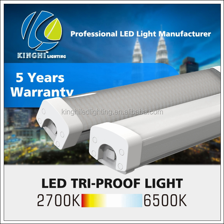 High quality ul etl dlc 2ft 20W Led Tri-proof Lamp IP65 Waterproof Car Park Light